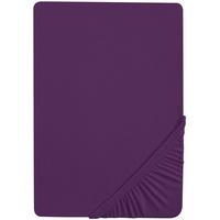 Castell Spannbettlaken Jersey 140 x 200 - 160 x 200 cm dunkelviolett