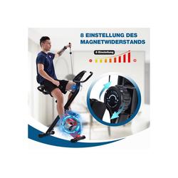 Masbekte Heimtrainer, X-Bike mit Pulssensoren, Fitnessrad für Heimtrainer, gepolsterter Sitz und Rückenlehne