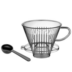 Cilio Kaffeefilter mit Messlöffel, Kunststoff, Filter aus Acryl inklusive Kaffeemaß, Durchmesser: 13,5 cm