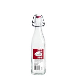 Bügelflasche vierkant Swing Bottle Glasflasche Bügelverschluss 250ml