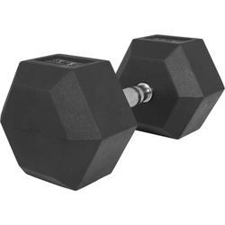 Hexagon Kurzhantel aus Gummi 32,5kg