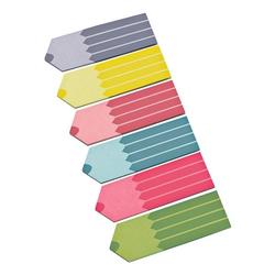 Papier-Pagemarker »Stifte« 2,5 x 1,8 cm 6 Farben, inFo, 2.5x1.8 cm