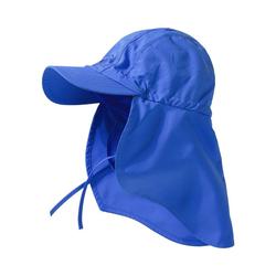 hyphen Sonnenhut Kinder UV-Schutz Sonnenhut mit Nackenschutz blau 50-52
