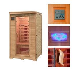 HOME DELUXE Infrarotkabine Redsun M, BxTxH: 120 x 105 x 190 cm, 40 mm, 40 mm, für bis zu 2 Personen