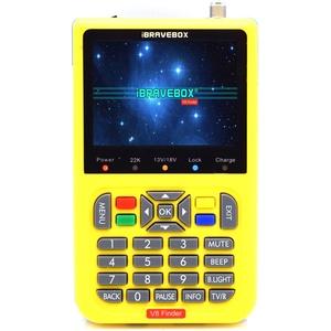 Roeam V8 HD Digitales Satellitensignal-Suchermessgerät,TV Finder Meter mit 3,5 Zoll LCD Digitalanzeige,Eingebaute 3000mA Batterie