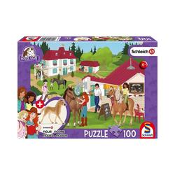 Schmidt Spiele Puzzle Puzzle Schleich Horse Club inkl. Schleich-Figur -, Puzzleteile