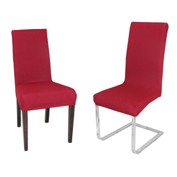 Stuhlhusse Milan Stuhlhusse, elastische Stretch Husse Mono-Elastic Mono-Strech, Farbe wählbar, Beautex rot