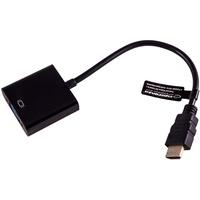 Gembird A-HDMI-VGA-03 Kabelschnittstellen-/Gender-Adapter Schwarz