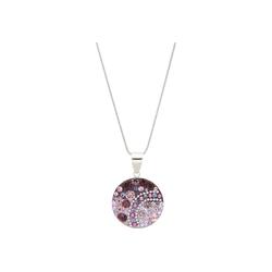 Smart Jewel Kette mit Anhänger rund, mit Kristallsteinen, Silber 925