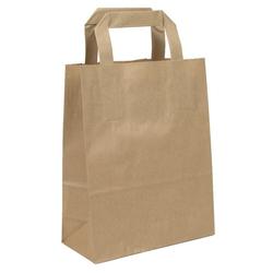 KK Verpackungen Tragetasche (250-tlg), Papiertragetaschen Papiertüten Papiertaschen Tragetaschen 18 +8 x 22 cm 18 cm x 22 cm x 8 cm