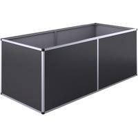 KGT Hochbeet Aluminium 205 x 91 x 77 cm schwarz