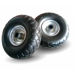 2x Geschäumtes Polyurethanrad - Pannensicheres Rad - Ø 245 mm - 125 kg Tragkraft