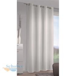 Ösenschal Mia, Verdunklungs-Vorhang mit Ösen, Abdunklung, 245x140 cm offwhite (hellgrau)