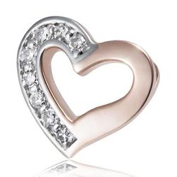 goldmaid Anhänger Herz 375/- Rotgold 8 Diamanten SI/H rot