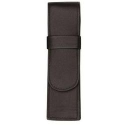 Stifteetui 15x4,5cm für 2 Stifte Leder schwarz