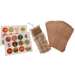 Adventskalender zum befüllen mit Papiertüten - Girlande Bastel Weihnachtskalender - Weihnachtsdeko