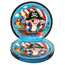 "Pappteller ""Piratenparty"", Ø 23 cm, 8 Stück"