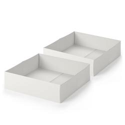 VitaliSpa® Faltbox Schublade Aufbewahrungsbox für Kinderbett 2er Set Weiß