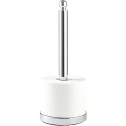 WENKO Viterbo Toilettenpapier-Ersatzrollenhalter, Offener Toilettenpapier-Ersatzrollenhalter für 3 Toilettenpapierrollen, 1 Stück, Maße: Ø 14 x 35 cm