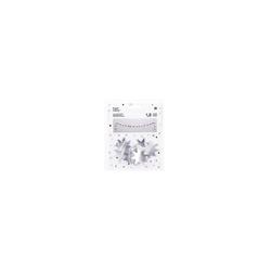 Kunstgirlande Papier Girlande Sterne, silber, Rico-Design Verlag