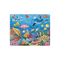 Larsen Puzzle Rahmen-Puzzle, 35 Teile, 36x28 cm, Korallenriff, Puzzleteile