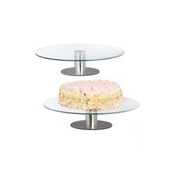 relaxdays Tortenplatte 2 x Tortenplatte drehbar mit Standfuß, Glas