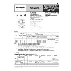 Panasonic APV1121S PhotoMOS-Relais Polzahl (num): 4