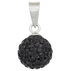 JOBO Kugelanhänger Kugel, 925 Silber mit Kristallen