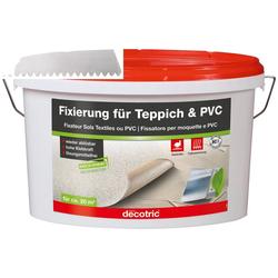 Bodenmeister Dispersionskleber 5kg Fixierung und Zahnspachtel, (2-tlg), für Teppichboden, PVC und Vinyl, reicht für ca. 20qm