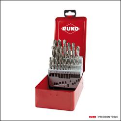 RUKO Spiralbohrersatz DIN 338 Typ N HSS G in Industriekassette linksschneidend