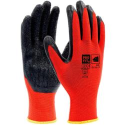 Fitzner Latex-Feinstrickhandschuh, Atmungsaktiver Handschuh mit hervorragender Rutschsicherheit, 1 Karton = 144 Paar, Größe: 9