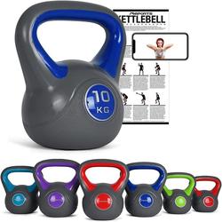 MSports® Kettlebell Kettlebell Kunststoff blau