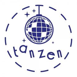 Feierlichkeiten Holzstempel - Tanzen (Ø 40 mm)