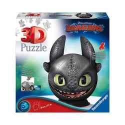 Ravensburger 3D-Puzzle puzzleball® Ø13 cm, 72 Teile, mit Ohren, Dragons, Puzzleteile
