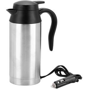 【Fruhling Verkauf Geschenk】Tragbarer Auto-Wasserkocher, tragbarer 750 ml 24-V-Reise-LKW-Wasserkocher Wasserkocher Flasche für Tee Kaffee trinken