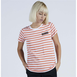 Tshirt NIKITA - Maxine Ss Tee Coral Reef-White Stipe (COR)