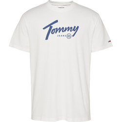 TOMMY JEANS T-Shirt TJM HANDWRITING TEE weiß L (52)