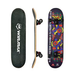 WIN.MAX Skateboard WIN.MAX Skateboard, Komplettboard mit ABEC-7 Kugellager, 31 * 8 Zoll Holzboard aus 7 Fach Verleimte Ahornholz