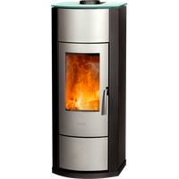Fireplace Nero Glas silber