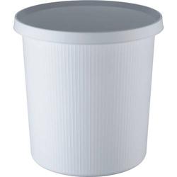 Papierkorb Linear 18l weiß