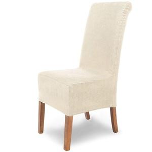 SCHEFFLER-Home Stretch Stuhlhusse Sofia   elastische Stuhlabdeckung   Stuhlhussen Schwingstühle   Flanell Spannbezug mit Gummiband   Elegante Stuhlbezüge