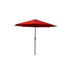 Raburg Sonnenschirm SUNNY EASY+ in ROT - XXL Gartenschirm neigbar mit Sonnenschutz UV50+, 3x3 m - Stoff 160g/m2 - Gewicht: 4 kg