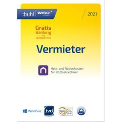 WISO Vermieter 2021 (5 WE - Klappbox) Jahreslizenz, 1 Lizenz Windows Finanz-Software