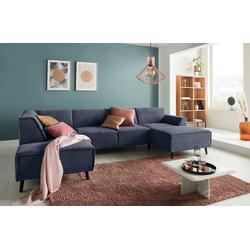 DOMO collection Wohnlandschaft, mit Federkern blau