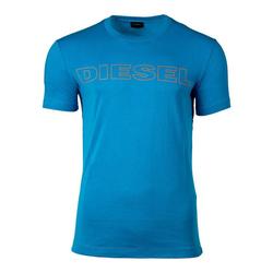 Diesel Unterhemd Herren T-Shirt, UMLT-JAKE HEMD, Rundhals, Print, blau XL