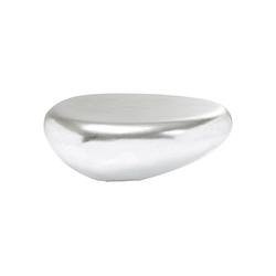 KARE Couchtisch Couchtisch Pebble Silber 122x96cm