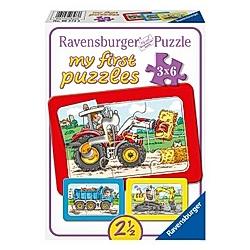 Bagger  Traktor und Kipplader (Rahmenpuzzle)