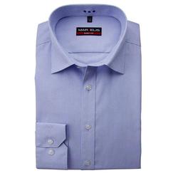 MARVELIS Streifenhemd Hemd - Body Fit - Streifen - Hellblau 40