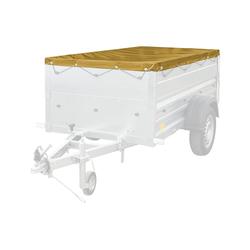 Gelbe Anhänger-Flachplane 200x106 für Anhänger Garden 200
