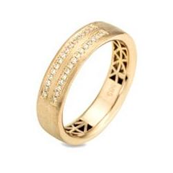 30 Brillanten Ring zus.ca. 0,15ct. Weiß/ lupenrein Gold 585